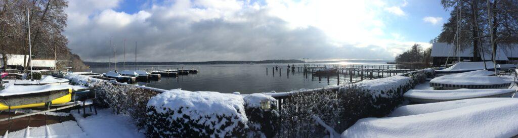 Panoramablick auf die Unterhavel von der DBYC Terrasse aus gesehen - Jan / 2021
