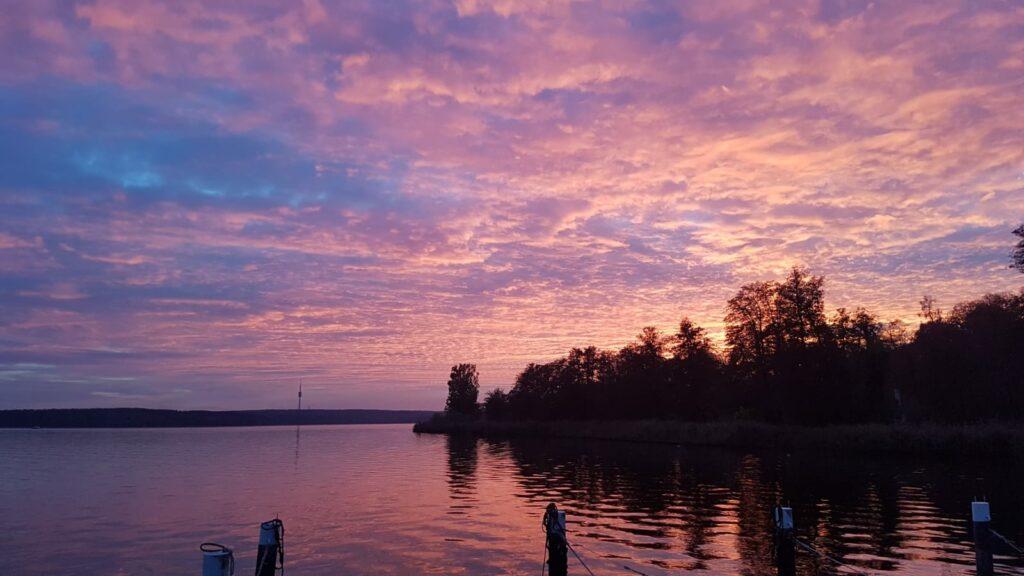 Sonnenuntergang mit Blick auf den Schäferturm - Nov / 2020